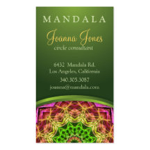 Green Flower Mandala Double-Sided Standard Business Cards (Pack Of 100)
