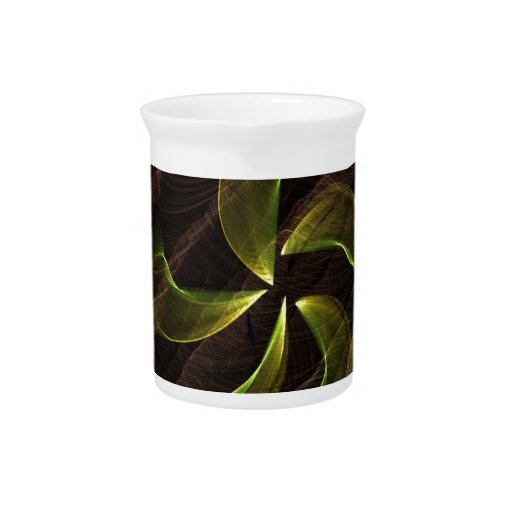 green flower on brown smoke pitchers