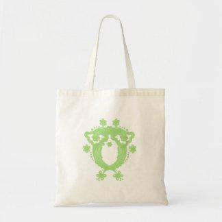 Green Flower Owl Bag
