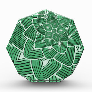 Green Flower Pattern Acrylic Award