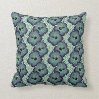 Green Flower Pattern Decorative Throw Pillows (<em>$32.90</em>)