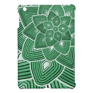 Green Flower Pattern iPad Mini Cases