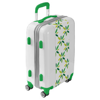Green Flower Pattern Luggage