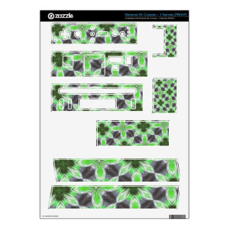 Green flower pattern wii skins