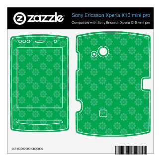 Green flower pattern xperia x10 skins