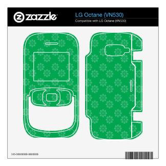 Green flower pattern LG octane skin