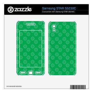 Green flower pattern samsung STAR S5230C skins