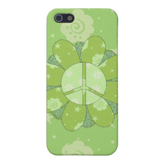 Green Flower Peace Sign iPhone 5 Cover