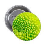 green flower pinback button