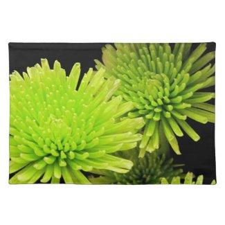 Green Flower Placemats
