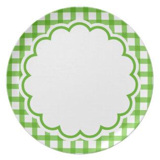 Green Flower Plate