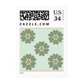 Green Flower Postage