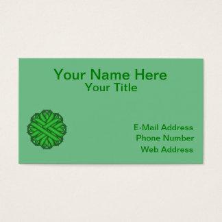 Green Flower Ribbon Business Card