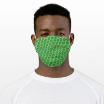 Green Flower Ribbon by Kenneth Yoncich Adult Cloth Face Mask
