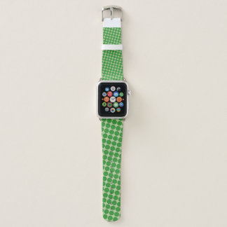 Green Flower Ribbon by Kenneth Yoncich Apple Watch Band