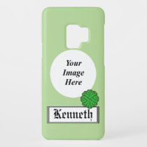 Green Flower Ribbon by Kenneth Yoncich Case-Mate Samsung Galaxy S9 Case