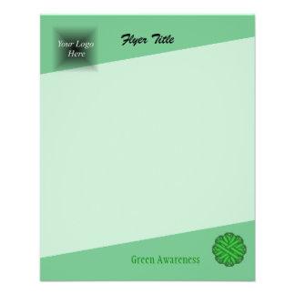 Green Flower Ribbon by Kenneth Yoncich Flyer