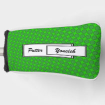 Green Flower Ribbon by Kenneth Yoncich Golf Head Cover