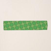 Green Flower Ribbon by Kenneth Yoncich Scarf