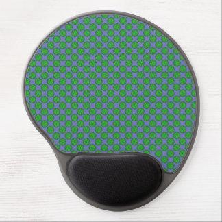 Green Flower Ribbon Gel Mouse Pad
