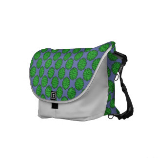 Green Flower Ribbon Messenger Bag
