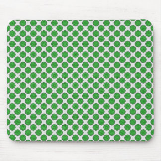 Green Flower Ribbon Mouse Pad