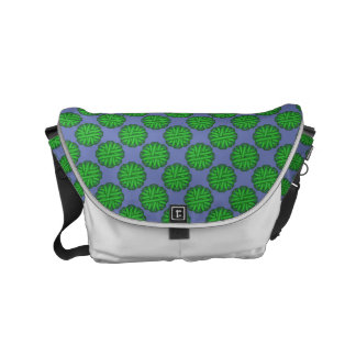 Green Flower Ribbon Small Messenger Bag