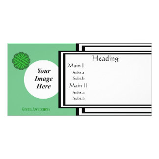 Green Flower Ribbon Template