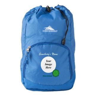 Green Flower Ribbon Template Backpack