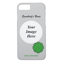 Green Flower Ribbon Template by Kenneth Yoncich iPhone 8/7 Case