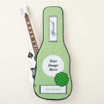 Green Flower Ribbon Template by Kenneth Yoncich Guitar Case
