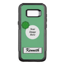 Green Flower Ribbon Template by Kenneth Yoncich OtterBox Commuter Samsung Galaxy S8  Case