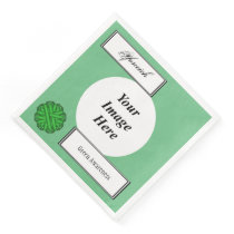 Green Flower Ribbon Template by Kenneth Yoncich Paper Dinner Napkin