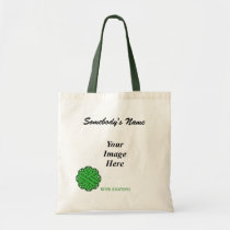Green Flower Ribbon Template by Kenneth Yoncich Tote Bag