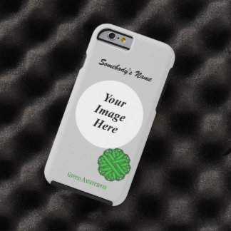 Green Flower Ribbon Template by Kenneth Yoncich Tough iPhone 6 Case