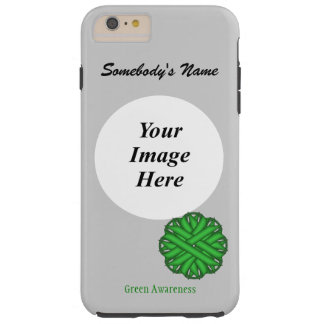 Green Flower Ribbon Template Tough iPhone 6 Plus Case
