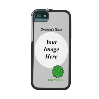 Green Flower Ribbon Template Case For iPhone 5