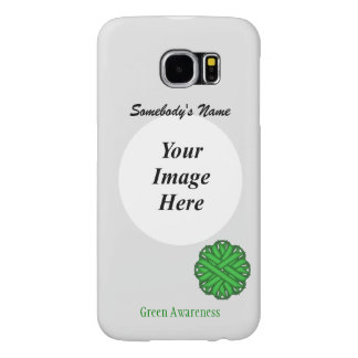 Green Flower Ribbon Template Samsung Galaxy S6 Cases