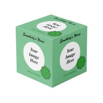 Green Flower Ribbon Template Cube