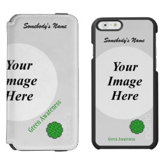 Green Flower Ribbon Template iPhone 6/6s Wallet Case