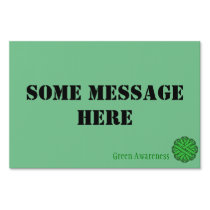 Green Flower Ribbon Template Yard Sign