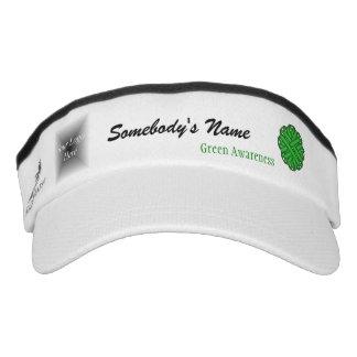 Green Flower Ribbon Template Headsweats Visor