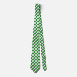 Green Flower Ribbon Tie