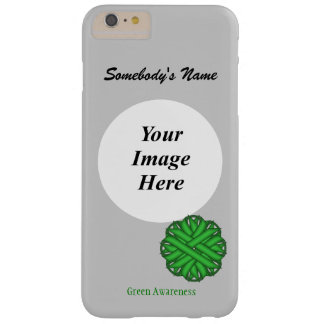 Green Flower Ribbon Tmpl by Kenneth Yoncich Barely There iPhone 6 Plus Case