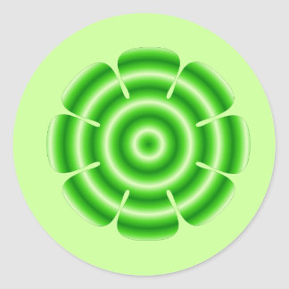 green flower stickers
