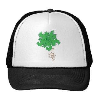 Green Flower Swirl Trucker Hat