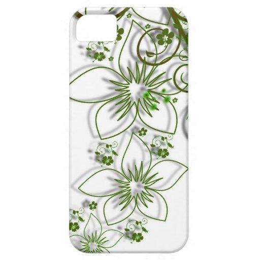 Green Flower Vine Border iPhone 5 Cases