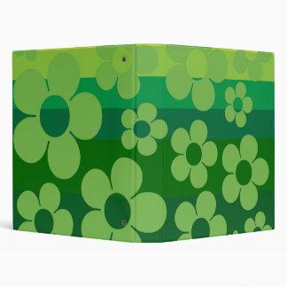 Green Flowers Vinyl Binders