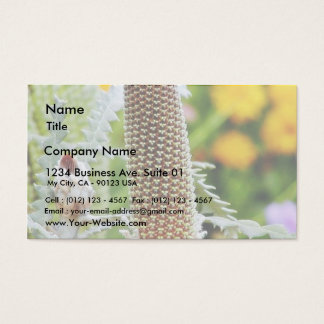 Green Flowers Buds Business Card