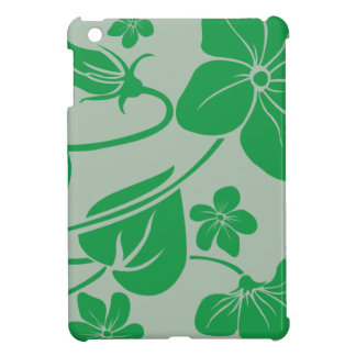 Green Flowers Cover For The iPad Mini
